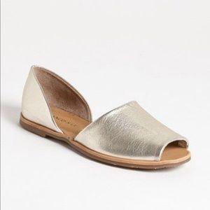 Franco Sarto Silver d'Orsay Sandals